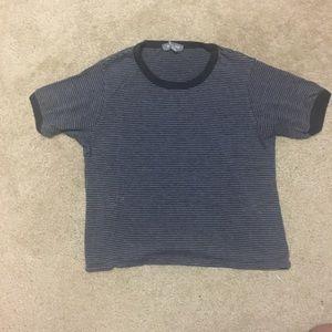 Crop top striped shirt